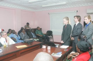 University of Oklahoma students pitch to the Cameroon tourism ministry.