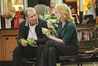 Ed O'Neill and Julie Bowen, who play father-daughter Jay Pritchett and Claire Dunphy on 'Modern Family.'