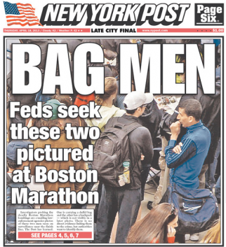 The New York Post's 'Bag Men' cover