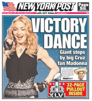 Friday's New York Post