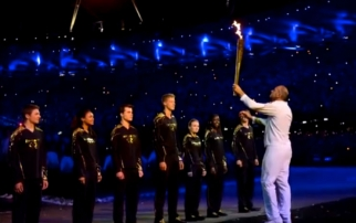 The London 2012 Summer Olympics opening ceremony.
