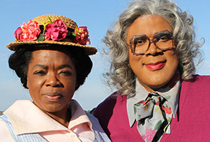 Oprah Winfrey and Tyler Perry in a promotion for his new shows on OWN