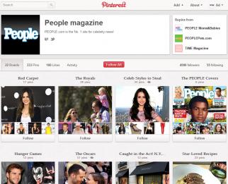 People magazine on Pinterest