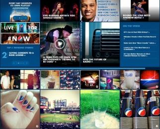 Pepsi.com boasts a Pinterest-like aesthetic