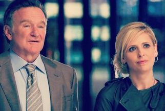 Robin Williams and Sarah Michelle Gellar in 'The Crazy Ones'