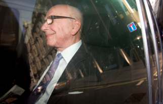 Rupert Murdoch at the height of the frenzy over phone hacking in the U.K.