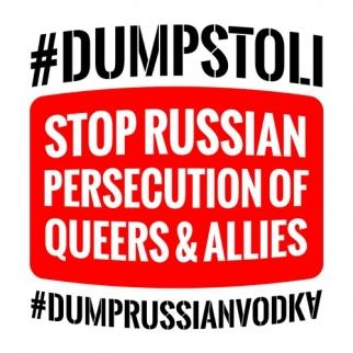 Russian vodka protest