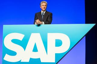 SAP CEO Bill McDermott poses during the software company's annual general meeting in Mannheim, Germany, on May 21, 2014.
