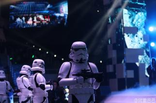 Stormtroopers march onstage at Alibaba's gala in Beijing.Kevin Spacey even made a cameo.