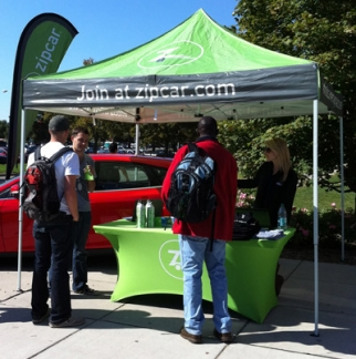 By reaching students now, brands such as Zipcar hope to stay top of mind in the future.
