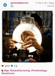 An Instagram post from the General Electric account