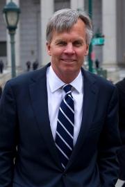 Ron Johnson outside court