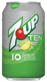 While Dr Pepper Ten was 'just for men,' 7UP Ten is gender neutral.