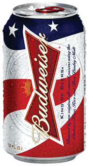 Budweiser's patriotic can