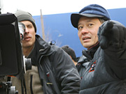 Oscar-winning director Ang Lee (right)