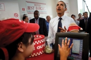 Barack Obama at Five Guys