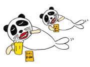 A panda seal that represents the food producer Oyatsu Co. Dentsu, designed by Dentsu's Kansai office