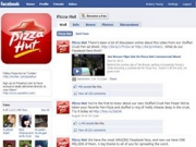 Facebook's brand pages, such as this one for Pizza Hut, are popular with marketers