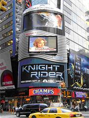 'Knight Rider' Ad in Times Square.