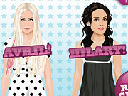 All dolled up: Avril Lavigne and Hilary Duff both partnered with Stardoll.com, which lets users dress up likenesses of celebrities. The play helped Ms. Lavigne's album soar.