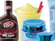 Exploring the beverage aisle: Dr. Pepper barbecue sauce, Aquafina skin-care products and Mountain Dew smoothies are all in the works.