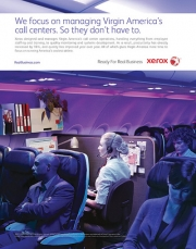 Virgin America gets a shout-out via Xerox.