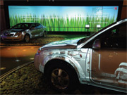 The lighting system Saturn is considering lets shoppers 'see inside a car.'