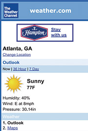 Weather.com's WAP site gives traffic updates.