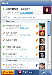 Meebo's new tool will allow users to check-in at websites and see where their friends have done the same.