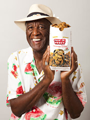 Wally Amos and his new line of cookies.