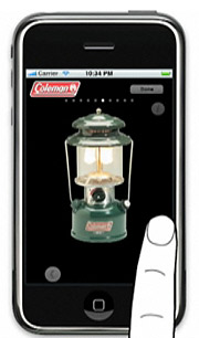 BRIGHT IDEA: Coleman's Effie-winning campaign features print ads and an iPhone app.