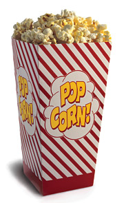 Roughly 25% of the price of a movie ticket is subsidized by popcorn, soda and candy sales.