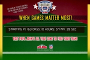 Papa John's campaign includes a countdown to game day.