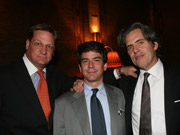 The book club: Lee Jones, David Verklin and Peter King Hunsinger