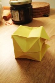 First attempt at paper cube making (an epic fail)