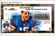 Users can click to download a sample of EA's NCAA Football 11 game to their Xbox.