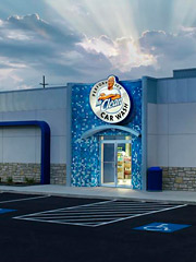 MR. CLEAN: P&G now has 15 car washes in Cincinnati and Atlanta and plans to expand.