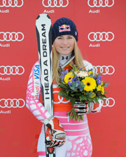 Skier Lindsey Vonn has a few sponsors, but if she pulls through, she'll be an Olympic darling.