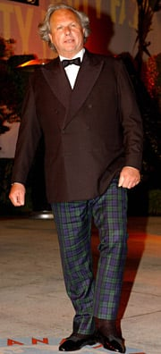 The green (plaid) issue: Graydon Carter's pajama pants caused a stir two years back.