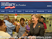 Hillary: Like Barack Obama, Clinton has a campaign site aimed at Latino voters.