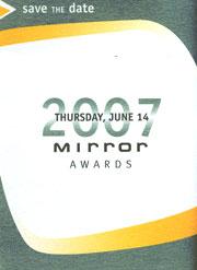 2007 Mirror Awards invitation