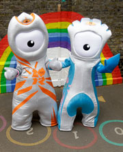 2012 Olympics mascots Wenlock and Mandeville
