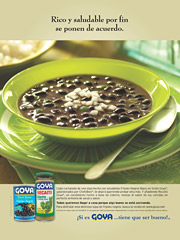 Bowling them over: Ads show how to integrate Goya into everyday cooking.