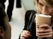 Sweet spot: McDonald's TV ad entices young women with free vanilla lattes.