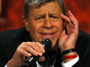 An illiterate what? During his telethon, Jerry Lewis employed some, er, colorful language.