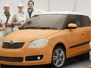 Skoda's Fabia, painstakingly constructed out of edible ingredients.