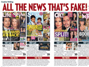 True or false: The magazines rebuked in Us Weekly's 'Creative Writing: All the News That's Fake' are standing by their stories.