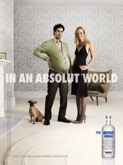 New work positions Absolut as 'ideal.'