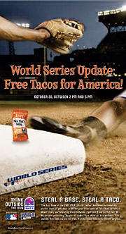Taco Bell's USA Today ad promising free tacos