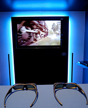 THE FUTURE OF TV? 3-D sets may be coming home sooner than you think.